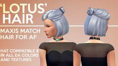 Imtater: Lotus hairstyle • Sims 4 Downloads