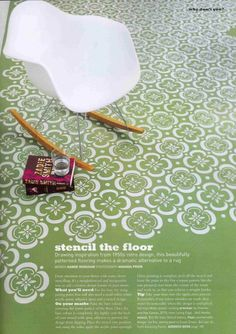 Stencil the floor... Paint tile and add some sort of stencil onto it! ... http://www.bathroom-paint.net/painting-bathroom-tiles.php