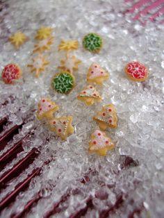 Beautiful dollhouse miniature Christmas cookies
