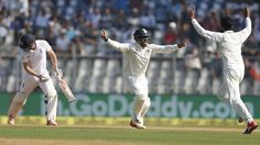 India appeal for the wicket of Chris Woakes India v England 4th Test Mumbai 2nd day December 9 2016