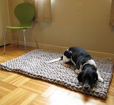 Giant Knit Rope Rug