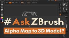"#AskZBrush: ""How can I create a 3D Model from an Alpha or Height Map ins..."
