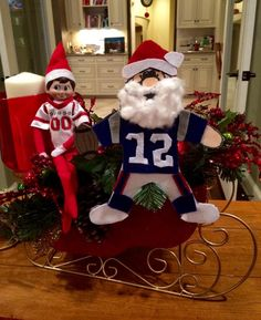 TB12 meets Santa Clause meets Elf on the Shelf!
