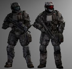 the real hero of the unsc helps injured people and doesnt afraid of space aluminums Combat Armor, Military Armor, Armor Concept, Concept Art, Odst Halo, Character Concept, Character Design, Science Fiction, Halo Armor
