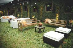 Lounge na área externa