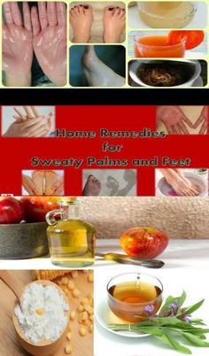 Natural remedies for sweaty palms and feet