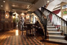 The Mesmerist, Brighton. Quirky, fun and affordable -- with decor inspired by gin palaces of yore. A great range of cocktails, jazz nights, live music and a black and white photo booth. Weekend sorted. #brighton #bars #bestbars #booze #cocktails #jazz #music