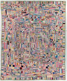 Possibly made in Illinois, United States Date:Circa 1930-1940 Style/Type:Crazy Dimensions (LxW):83 x 68 Inches 210 x 171 Centimeters
