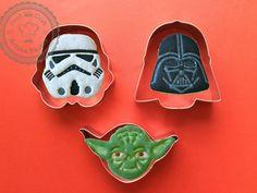 3PC Star wars Cookie Cutters Star Wars Mold by ArtSeaFartsy