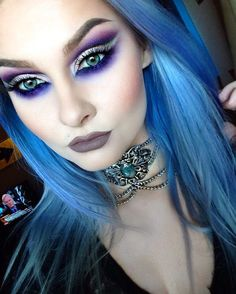 """""""Completely in love with this choker from I'll post eye details later On my lips I'm wearing 1000 Years Lipliner and…"""" Gothic Makeup, Dark Makeup, Fantasy Makeup, Glam Makeup, Makeup Art, Beauty Makeup, Eye Makeup, Crazy Makeup, Witch Makeup"""