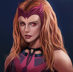 Marvel Comics, Marvel E Dc, Marvel Fan Art, Marvel Women, Disney Marvel, Marvel Females, Scarlet Witch Costume, Scarlet Witch Marvel, Avengers Cartoon