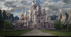 The White Queen castle from Alice In Wonderland