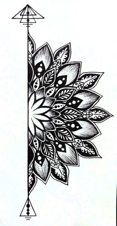 traditional mandala tattoo Best Picture For Tattoo Pattern floral For Your Taste You are looking for something, and it is going to tell you exactly what you are looking for, and you did Doodle Art Drawing, Cool Art Drawings, Mandala Drawing, Pencil Art Drawings, Art Drawings Sketches, Mandala Art Lesson, Zen Doodle, Cool Drawing Designs, Sharpie Drawings