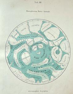 Hemispherum Martis Australe.