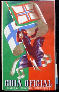 Exposição do Mundo Português ( Exibition of the Portuguese World) of Retro Poster, Vintage Advertising Posters, Poster Ads, Vintage Travel Posters, Vintage Postcards, Vintage Advertisements, History Of Portugal, Aztec Art, Vintage Classics