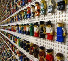 Lego Storage Ideas - Lego man wall