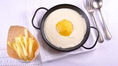 Crema de limón con helado de mango (Trampantojo de Huevo frito con patatas) - Receta - Canal Cocina