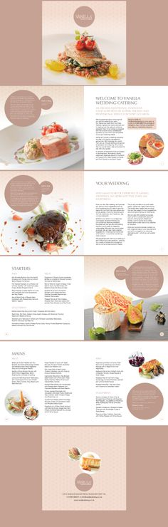 Vanilla's new Wedding Catering brochure layout, Designed by www.trampolinedesign.net