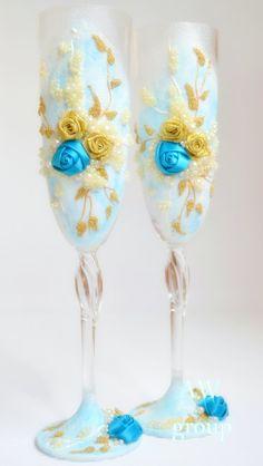 Personalized Wedding glasses Wedding Flutes by ArtWeddingGroup