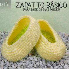 d779e79f0 zapatitos a crochet para bebe de 0 a 3 meses