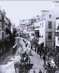 Fete de la st jean en 1880 a quebec Old Quebec, Quebec City, Photos Du, Old Photos, Chute Montmorency, Chateau Frontenac, Le Petit Champlain, Saint Jean Baptiste, Montreal Ville