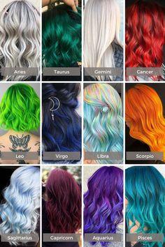 Zodiac Signs Animals, Zodiac Signs Chart, Zodiac Signs Sagittarius, Zodiac Signs Colors, Sagittarius Girl, Hair Dye Colors, Cool Hair Color, Zodiac Signs Pictures, Pelo Multicolor