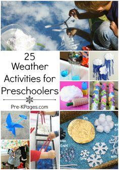 25 Weather Theme Activities for Preschool and Kindergarten