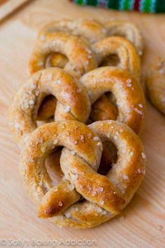 homemade whole wheat pretzels... these were easy and good.  we did 1/2 all purpose and 1/2 freshly milled flour and they were great.