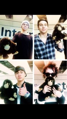 How can you not love them<<< every time luke has a stuffed animal he makes that face