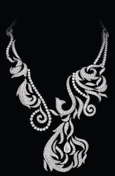 Amazing Boucheron diamond necklace.