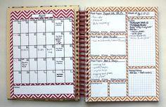 Homemade Blog Planner