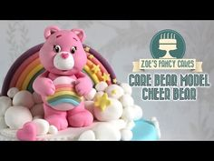 Fondant Care bear model pink Cheer Bear cake topper In this modelling tutorial I show you how to make a Cheer bear (care bear) model to use as a cake topper . Creative Cake Decorating, Birthday Cake Decorating, Cake Decorating Tutorials, Creative Cakes, Decorating Ideas, Care Bear Cakes, Teddy Bear Cakes, Cake Topper Tutorial, Fondant Tutorial