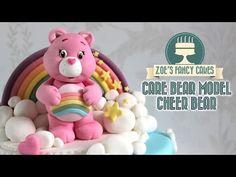 Care Bears: How to make a fondant Care Bear model cake topper blue grumpy Care Bear - YouTube