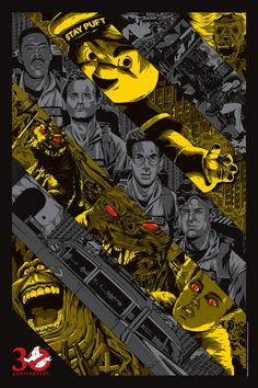 "ghostbusters 30th GHOSTBUSTERS Tribute Art by Anthony Petrie - ""Ghostbusted"""