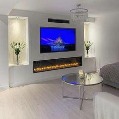 Living Room Decor Fireplace, Decor Home Living Room, Home Fireplace, Living Room Tv, Home And Living, Living Room Designs, Home Decor, Feature Wall Living Room, Home Room Design