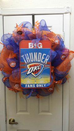 OKC Thunder wreath.