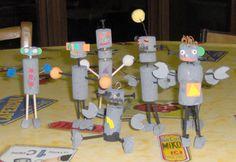 fabriquer des petits robots avec des bouchons