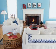 Introduce Color on Walls | Surprising, low-cost ways to update your home décor.