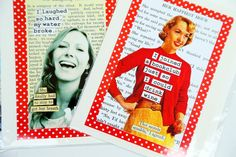 """""""classy people""""cards, by Alice Hinther produced by Pineridgeart.com"""