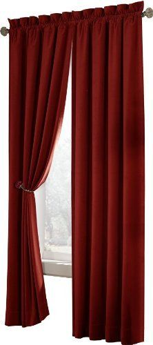Amazon.com: Velvet Black Curtain Set w/ Valance/Sheer/Tassels ...