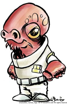how to draw admiral ackbar