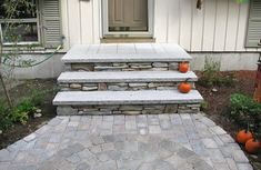 Outdoor stairs and stone steps for front & back yard landscaping Circle