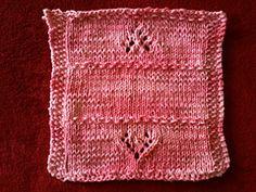 Hearts N Moss Dishcloth  pattern by Janet Nogle....