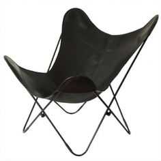 Butterfly chair in leather BIG BKF Buenos Aires