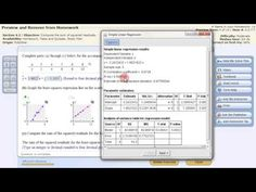 Least Squares Linear Regression StatCrunch Statistics Help, Linear Regression, Homework, Squares, Equation, Classroom, Bobs, Systems Of Equations