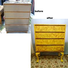 dresser with legs added, what a difference a little paint makes!