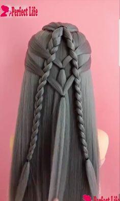 Pin by Mayra on Hair styles in 2019 Pretty Hairstyles, Girl Hairstyles, Braided Hairstyles, Cabelo Ombre Hair, Pinterest Hair, Braids For Long Hair, Crazy Hair, Braid Styles, Hair Dos