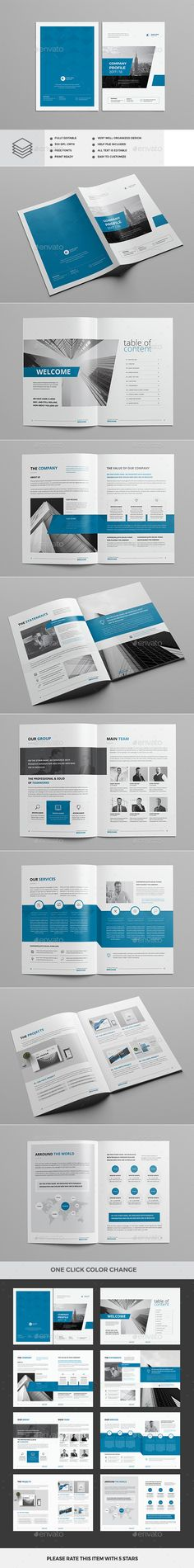 Annual Report 24 Pages Template, Brochures and Annual reports - company profile sample download