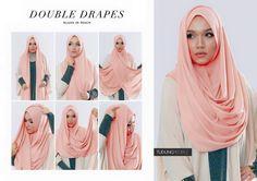 Hijab Wedding Dresses, Hijab Bride, Girl Hijab, Hijab Outfit, Square Hijab Tutorial, Pashmina Hijab Tutorial, Hijab Style Tutorial, Muslim Fashion, Hijab Fashion