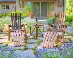 Reclaimed wine barrel patio furniture set by RenderedUseful2, $1700.00